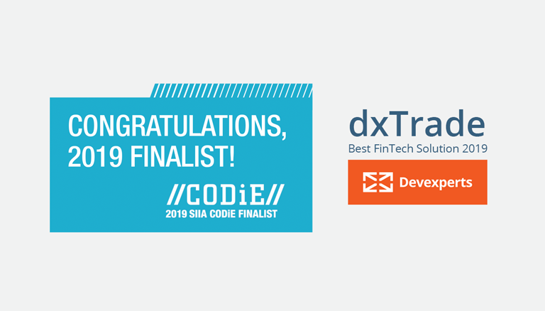 dxTrade is the Finalist In The Codie Award