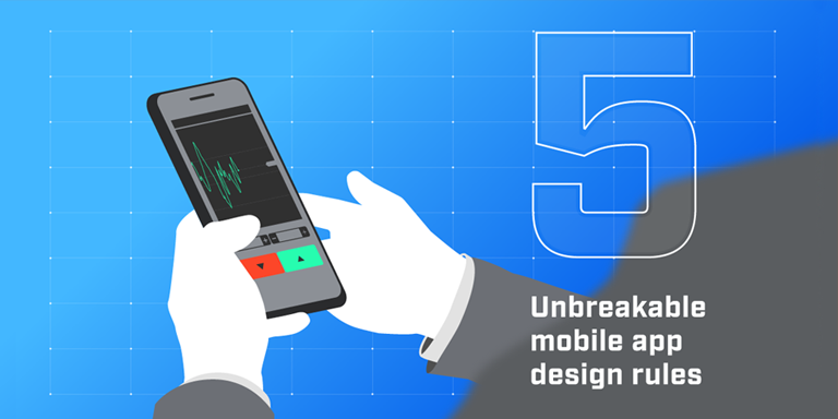 mobile app design rules